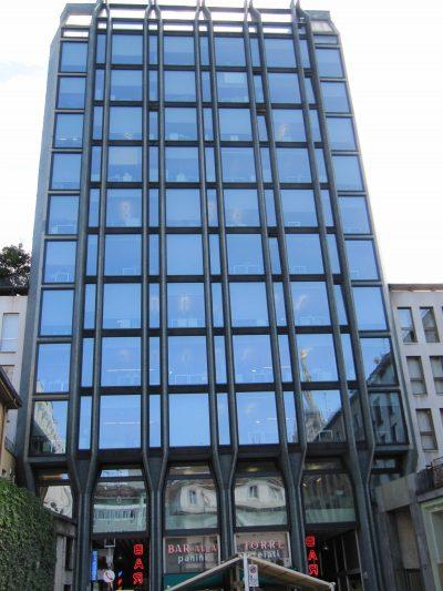 pareti vetrate in alluminio per edificio aziendale te.ser