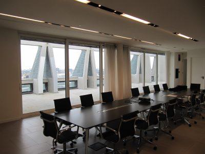 porte finestre scorrevoli in alluminio per ufficio